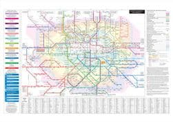 London Connections (Tube and Rail services) Digital Print with hardback