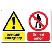 Multiple safety sign - Emergency Do Not 010