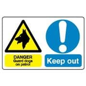 Multiple safety sign - Guard Dogs On Patrol 012
