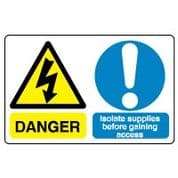 Multiple safety sign - Isolate Supplies 020
