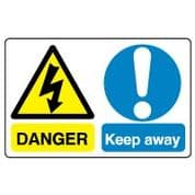 Multiple safety sign - Keep Away 021