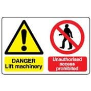 Multiple safety sign - Lift Machinery 024