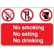 Multiple safety sign - No Smoking No 027