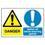 Multiple safety sign - Switch Off Before 036