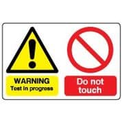 Multiple safety sign - Test In Progress 037