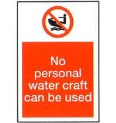 No Personal Water Craft