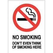 No Smoking safety sign - No Smoking Don't 011