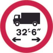 No Vehicles Over Length Shown