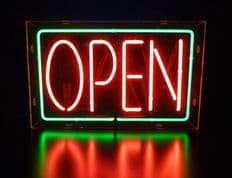 Open Neon Sign (Green & Red)