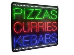 Pizzas, Curries, Kebabs LED Sign