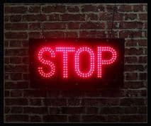 Stop LED Sign