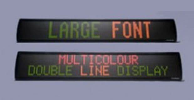 Tri Colour Large font / Bi line Indoor LED Display in 4 different sizes