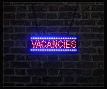 Vacancies LED Sign