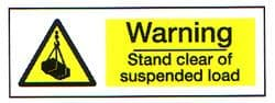 Warning Stand Clear of Suspended Load