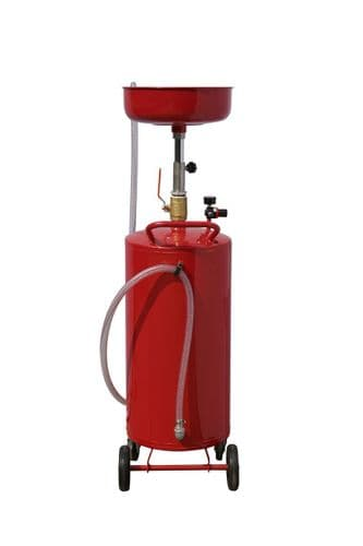 18 Gallon Air operated Workshop Oil Drainer with Large Tank. Garage Oil Drainer