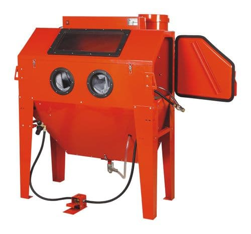 Foot Operated Sand Blast Cabinet with Built in Dust Extractor. SBC420 Large