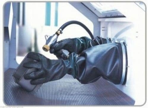 """Gauntlets 7 x 24"""" Replacement Gloves for Large Sand Blasting Cabinet"""