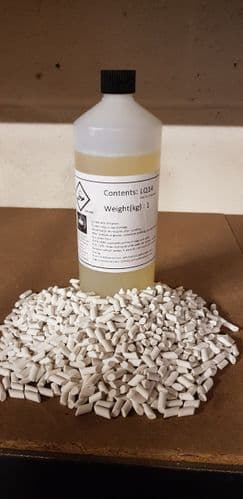 Porcelain Media For A Vibratory Tumbler with 1 Ltr of Polishing Compound