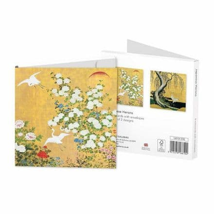 8 Blank Notecards / Notelets - 2 ass Japanese Herons