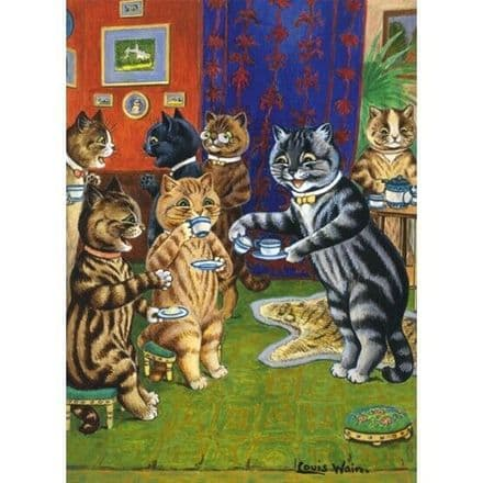 Afternoon at Home  - Louis Wain Cats - V&A