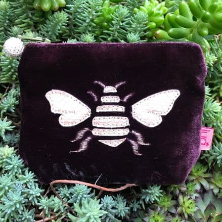 Bee Coin Purse (Fig) by Lua