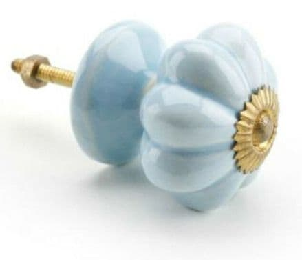 Cupboard Door Knob - Ceramic Pale Turquoise
