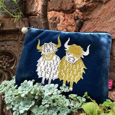 Highland Cow Purse ( Blue) by Lua