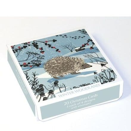 Pack of 20 Xmas Cards - Winter Woodland
