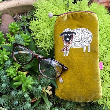 Winter Sheep Glasses Purse (Mustard) by Lua