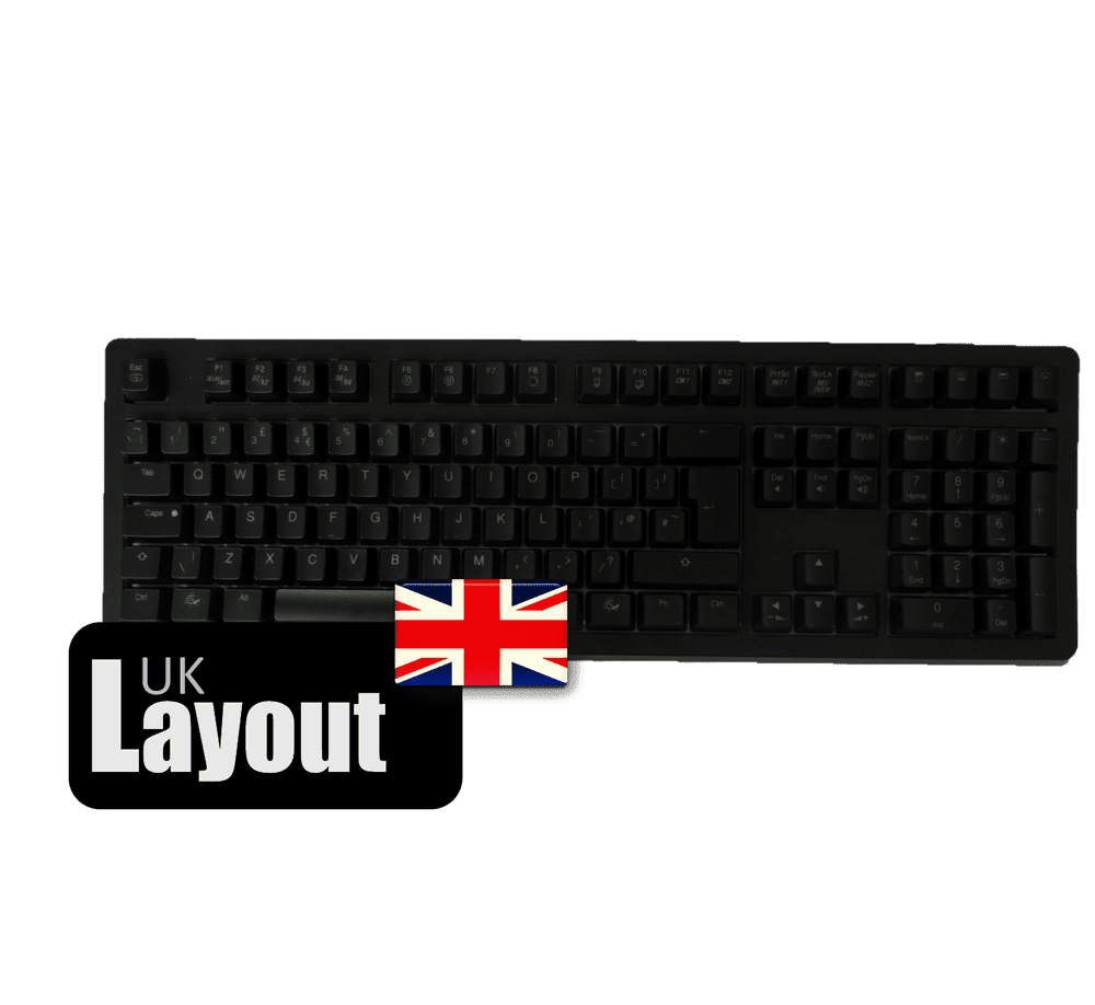 Ducky ABS Black Keycaps For Ducky Channel Shine 4 UK