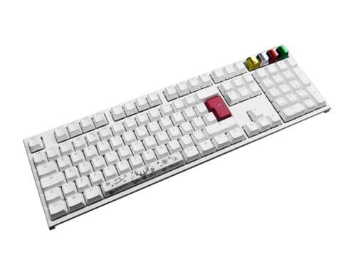 Ducky Channel One2 Pure White Christmas Edition UK Layout Brown Cherry MX Switch