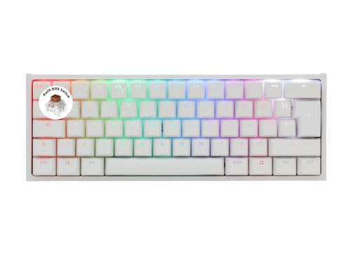 Ducky One2 White Mini Kailh BOX Brown Switch RGB Backlit