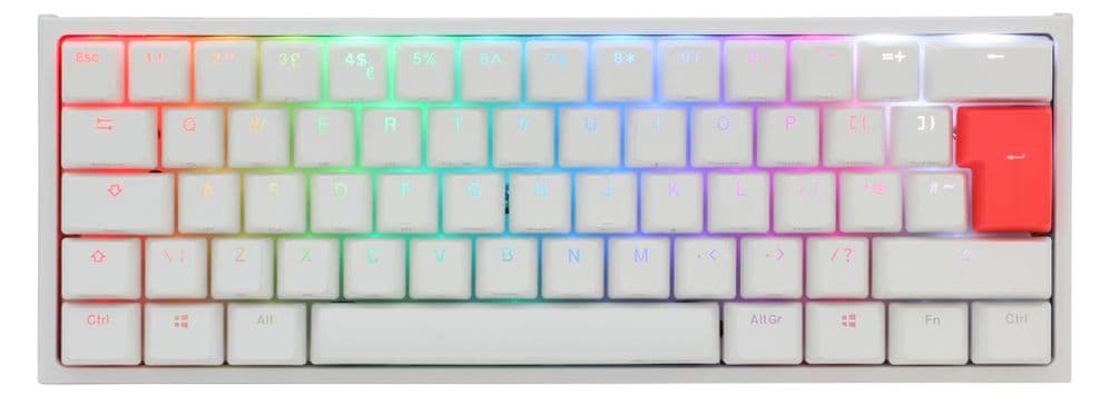 Ducky White One2  Mini RGB Backlit Red Cherry MX Switch DKON2061ST-RUKPDWWT1 (V2)