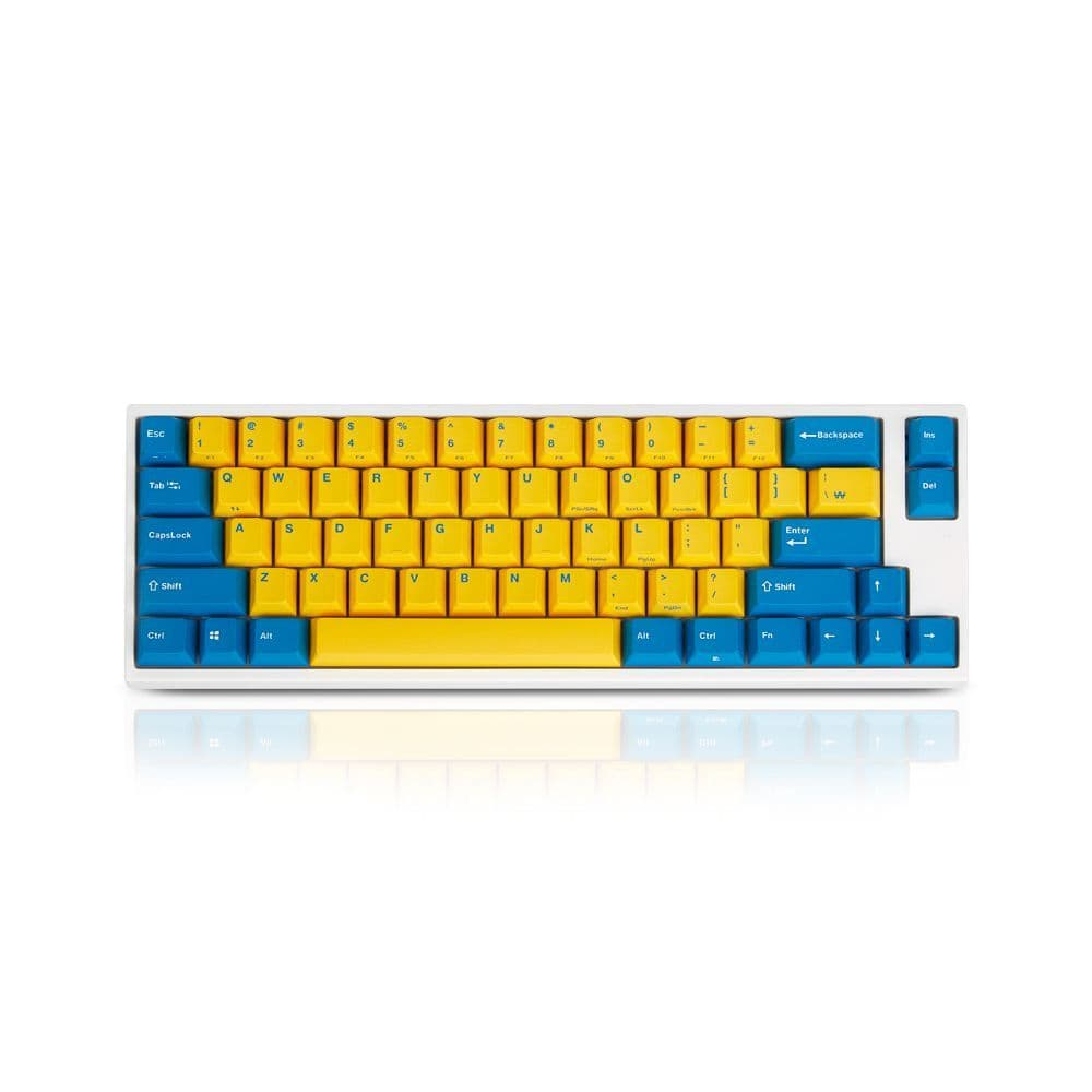 Leopold FC660M Yellow/Blue PD S/Red Cherry - US Layout