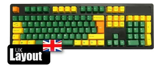 Tai-Hao ABS Double Shot Keycaps Golden Green UK
