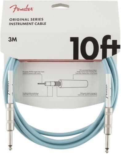 Fender Original Series Instrument Cable - 10 ft – STR/STR – Blue - 099-0510-003