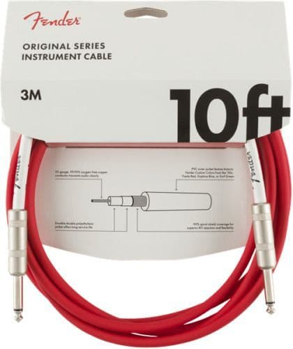 Fender Original Series Instrument Cable - 10 ft – STR/STR – Red - 099-0510-010