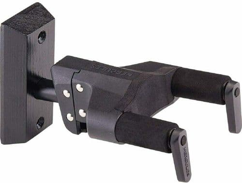 Hercules Guitar wall hanger, acoustic, electric, Black Wood base - GSP38WBKPLUS