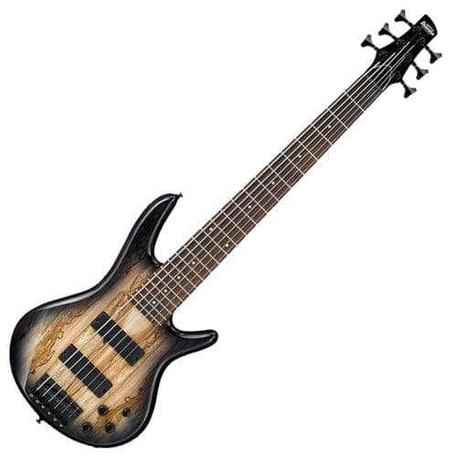 Ibanez GIO 6 String Bass Guitar, Natural Gray Burst- GSR206SM-NGT