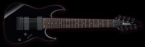 Ibanez RG8-BK 8-String Electric Guitar, Black - HH Fixed Bridge - New Boxed