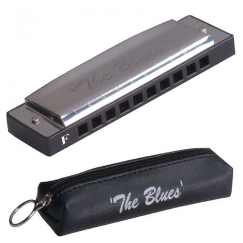 JHS THE BLUES HARMONICA 'F' including Case - TB10F