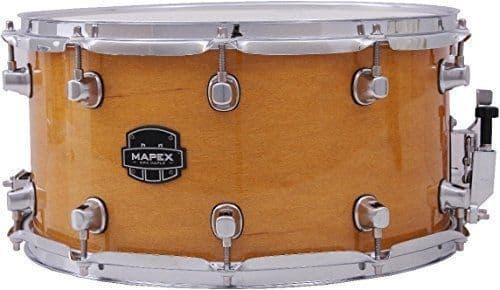 """Mapex 14"""" x 07"""" MPX Glossy Natural Maple Snare Drum - MPML4700C-N"""