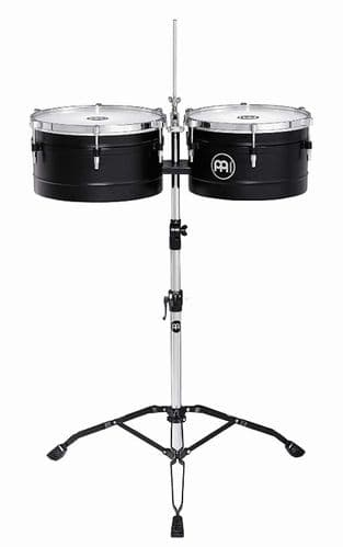 Meinl 13 and 14 inch Floatune Series Timbales - Black - TI1BK