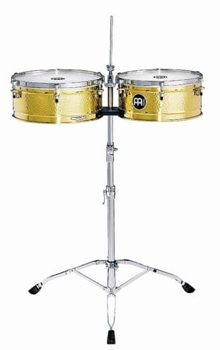 Meinl 14 / 15 inch Luis Conte Artist Series Timbales -  Solid Brass - LC1BRAS