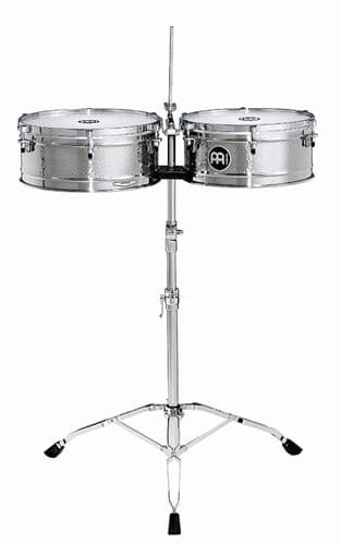 Meinl 14 / 15 inch Luis Conte Artist Series Timbales - Stainless steel - LC1STS