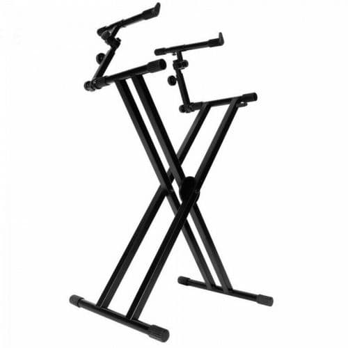 On Stage Stands - DOUBLE 2-TIER KEYBOARD STAND - KS7292