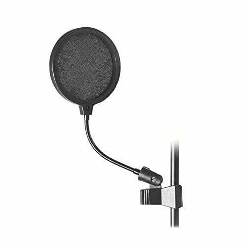 On Stage Stands - Microphone Pop Shield, 6-Inch - ASVS6B