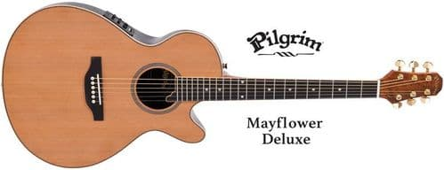 Pilgrim VPG900N Mayflower DLX Electro-Acoustic Guitar Solid Cedar top