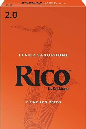 Rico 2.0 Strength Reeds for Tenor Sax (Pack of 10) - RKA1020