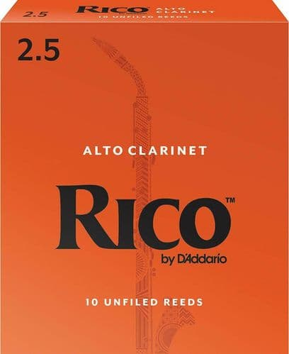 Rico 2.5 Strength Reeds for Alto Clarinet (Pack of 10) - RDA1025